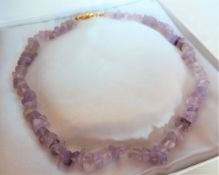 Lilac Quartz Crystal Necklace