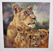 Limited Edition 'Lioness Cats & Cubs' by Donald Grant