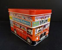 Vintage Huntley Palmers London Bus Biscuit Tin