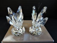 Gianfranco Ranoldi Crystal Butterfly Figurines Boxed