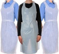10 boxes x disposable aprons 600 plastic polythene eco flat waterproof