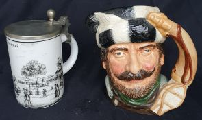Vintage Royal Doulton The Trapper Character Jug & One Other