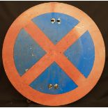 Vintage Retro Metal No Stopping Clear Way Road Sign