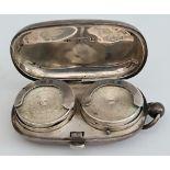 Antique Sterling Silver Double Sovereign Case Birmingham 1907 W H Hasler