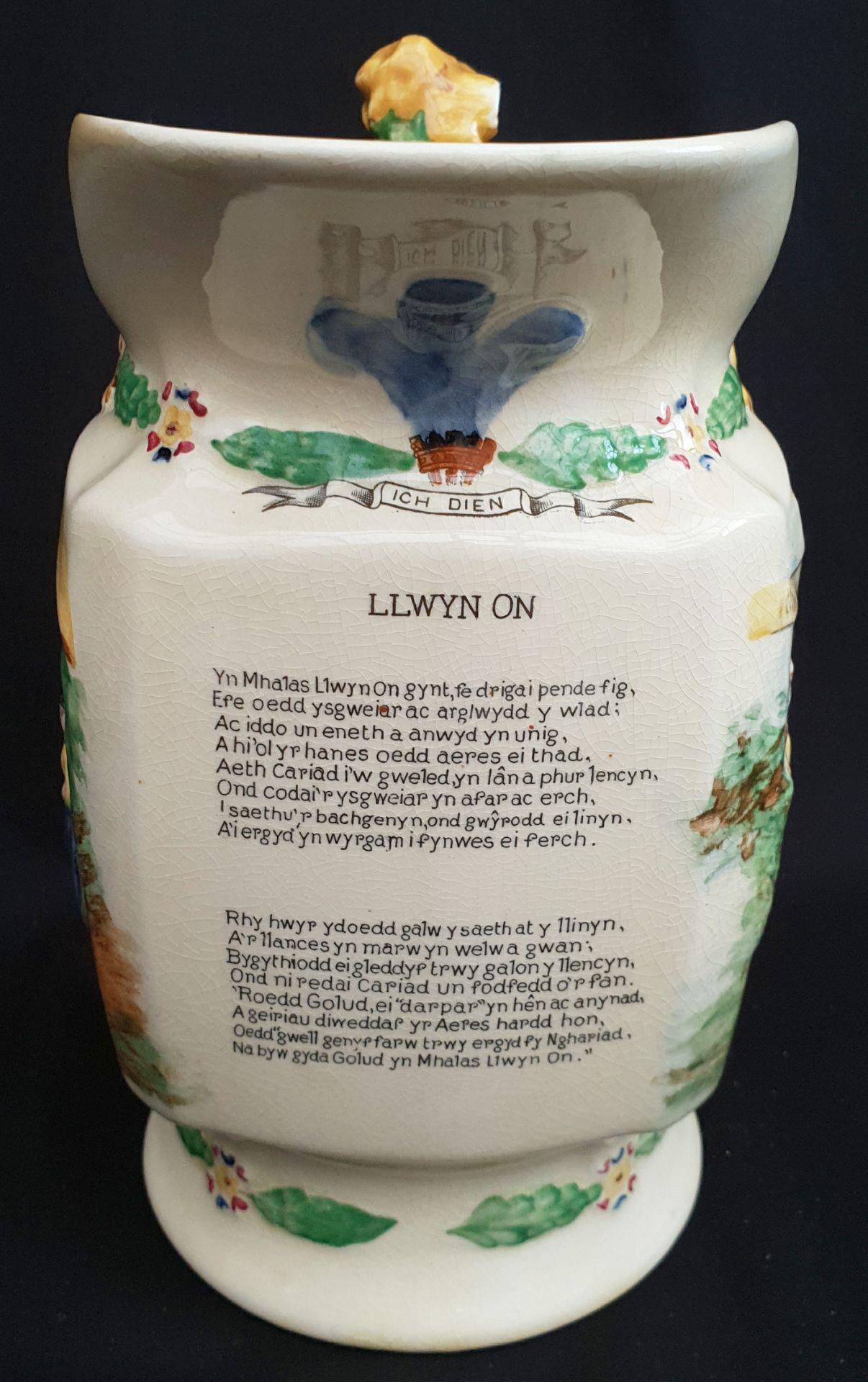 Antique Crown Devon Fielding Welsh Musical Water Jug Llewyn On - Image 2 of 4