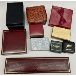 Vintage Collection of Jewellery & Watch Boxes Total of 10