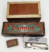 Antique Wooden Box Dominos Etc