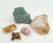Collectable 5 x Geological Rock Samples