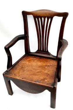 Antique Hardwood Childs Chair Ideal For Doll Collectors