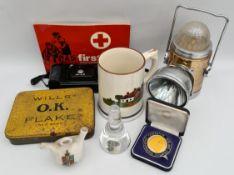 Vintage Parcel Includes Tins Medal Etc.