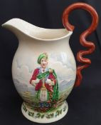 Antique Crown Devon Fielding Large Musical Water Jug I Love A Lassie