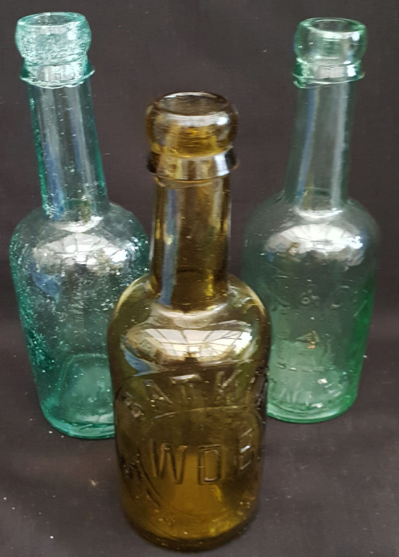 Vintage 3 x Collectable Glass Bottles