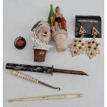 Vintage Parcel of Bottle Stops Jewellery & Button Hooks