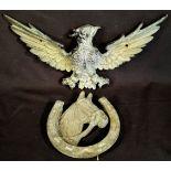 Vintage Brass Spread Eagle Figure & Horse Shoe Door Knocker
