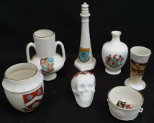 Antique 7 x Crested Ware Includes Goss