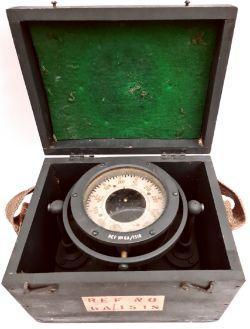 WWII British Navy Ships Liquid Gimbal Compass in Original Box