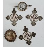 Antique Jewellery Includes Swivel Brooch & Commemorative Medallions