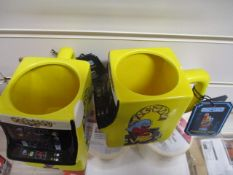 20Pcs X Brand New Pacman Mug - By Paladone Original, Rrp £12.99 - 20Pcs In Lot