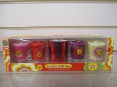 1Pcs X Brand New Chupa Chups 5Pc Votive Candle Set Rrp £9.99 -