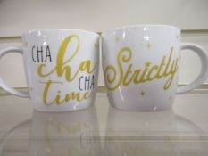 100Pcs Brand Strictly Cha Cha Licensed Mugs - New And Sealed - Rrp £7.99 Each -