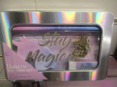 24Pcs Brand Paladone Unicorn Stationary Set - New And Sealed With Pencils , Notepad
