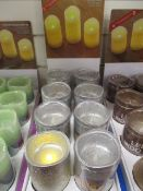 8Pcs Colour As Pictured Led Candle With 2 X Led Settings , Flicker Function Made