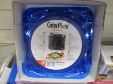 100Pcs - Caterplate Set Colour As Pictured Includes Plate , Knife , Fork , Spoon