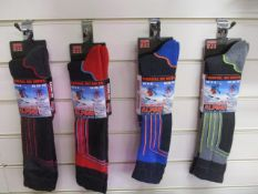 12Pcs Thick Insulate Therma Tec Alpine Ski Style Sock - Assorted Colours Rrp £4.