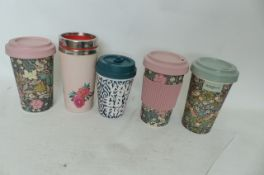 5 Travel Mugs to include Morris & Co (R4)