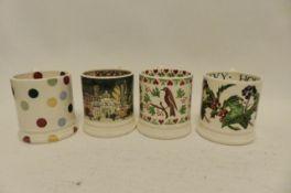 4 Emma Bridgewater 1/2 pint mugs (A2)