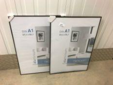 2 Nielsen Pearl Plexiglass Aluminium Poster Frames 59cm x 84cm A1 (C2)
