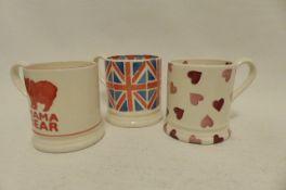3 Emma Bridgewater 1/2 Pint Mugs