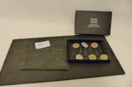 Just Slate Company Table Runner, Coaster & Cheese Marker (A12)