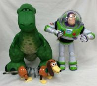 Toy Story Talking Buzz Lightyear With Plush Rex Toy