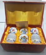 A Set Of 6 Porcelain Chinese Wine/Tea Cups