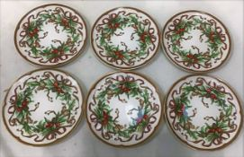 A Set Of 6 Tiffany Salad/Dessert 'Garland Holiday' Plates