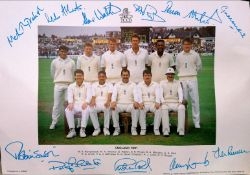 1991 England Cricket Team Photo