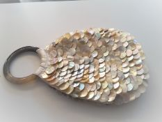 Mother Of Pearl Buttons Handbag