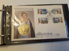 The Queen 40Th Anniversay Of Succession To The Throne Stamp Album 1992