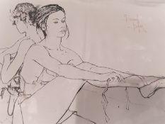 Bernard Dufour Signed Ballerina Loose Canvas