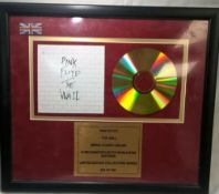 Pink Floyd The Wall Limited Edition Framed Cd