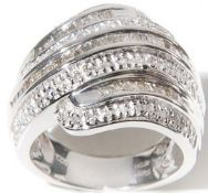 14Ct White Gold Diamond 7 Row Ring