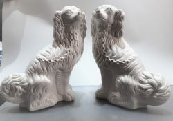 A Pair Of Portmeirion Pottery Spaniels