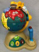 Vtech Fly & Learn Interactive Talking Geography Globe World Atlas.