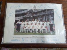 1992 England Cricket Team Photo