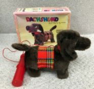 Rare Vintage Asahi Dachshund Walking Dog.
