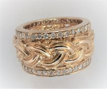 14Ct Yellow Gold Male Rope Pattern Ring