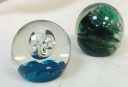 Caithness Space Shuttle & Kerry Glass Paperweights