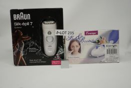 RRP £149.99 BUNDLE OF 2 BEAUTY PRODUCTS including BRAUN SILK.EPIL7