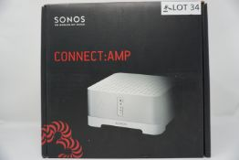 RRP £499.99 SONOS CONNECT:AMP Smart Wireless Stereo Adaptor white